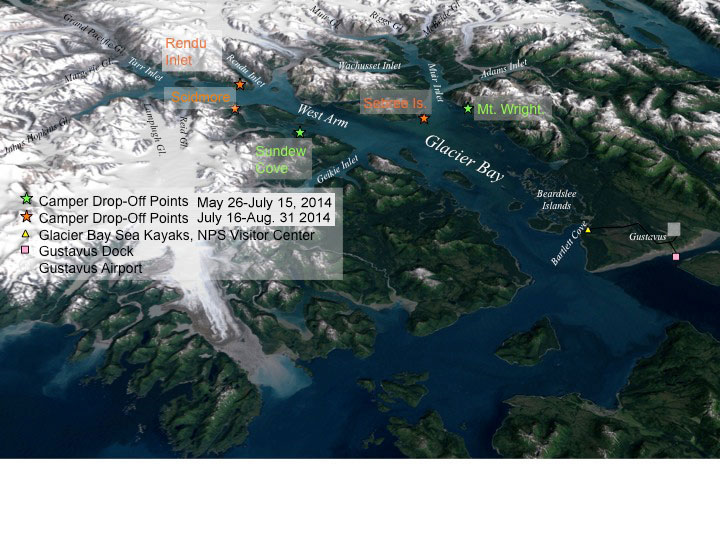 Map of Glacier Bay